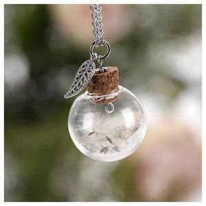 Make A Wish Dandelion Feather Necklace